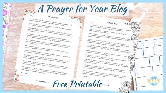 prayer for your christian blog image
