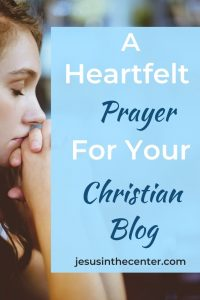 prayer for your christian blog