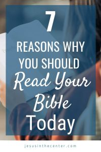 why you should read your bible