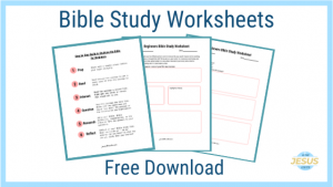 Printable Bible Study Worksheet