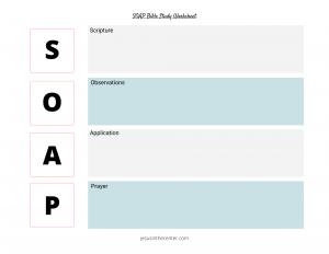 SOAP Bible Study Worksheet