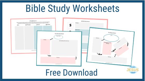 Bible Study Worksheet pdf