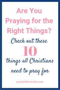 things to pray for
